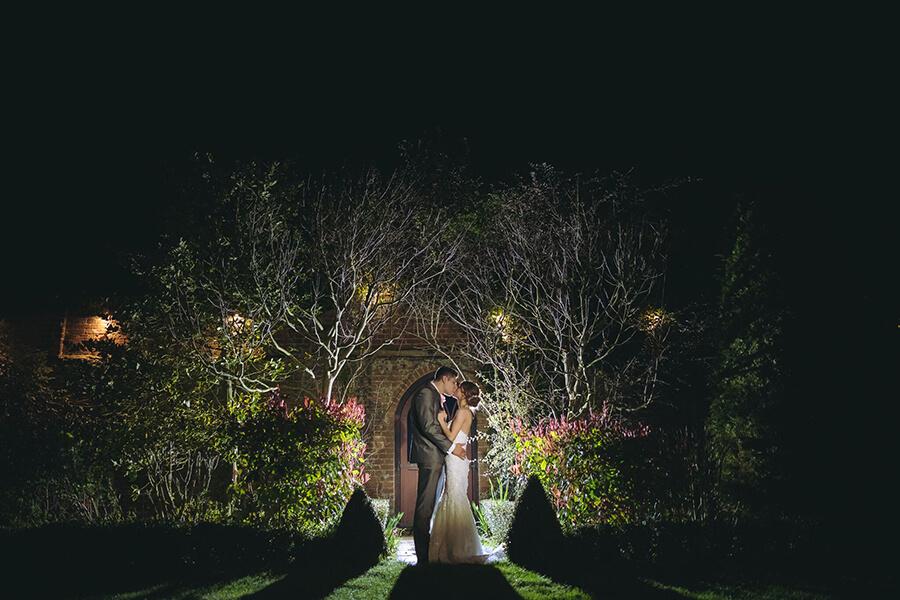 Dusk outdoor Wedding at Woodhall Manor