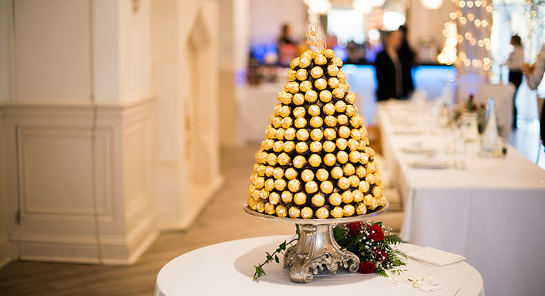 Stacked Ferrero Rochers