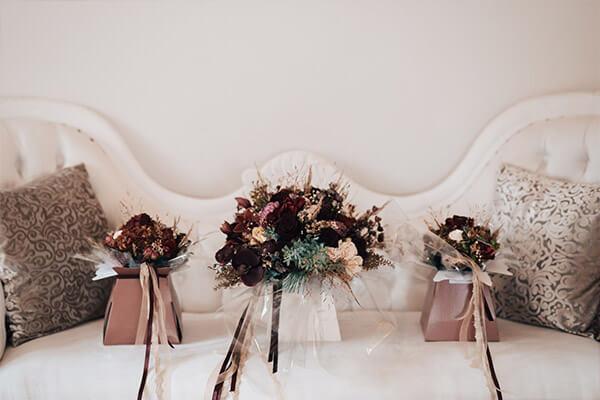 oxblood wedding trend